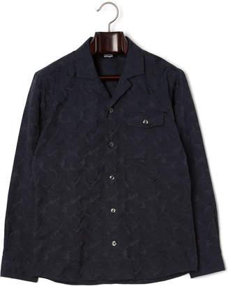 Allegri (アレグリ) - allegri カモフラージュ柄 ワンポケット 長袖シャツ ネイビーカモ 50