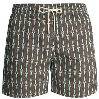 Le Sirenuse Le Sirenuse, Positano - Melody Print Swim Shorts - Mens - Khaki
