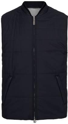 Stefano Ricci Leather Trim Silk Gilet