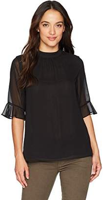 Calvin Klein Women's Petite Bell Sleeve Top