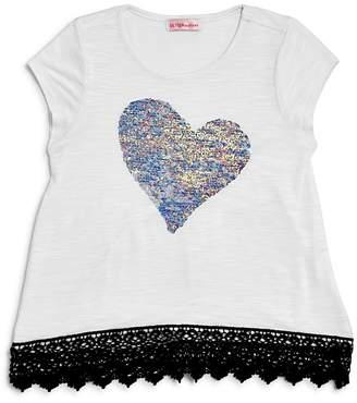 Design History Girls' Reversible-Sequin-Heart Tee - Little Kid