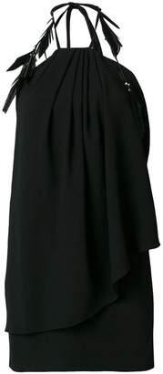 Saint Laurent draped halter mini dress