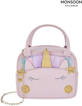 Monsoon Girls Amazing Amena Unicorn Bag - Silver