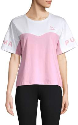 Puma Colorblock Cotton Tee