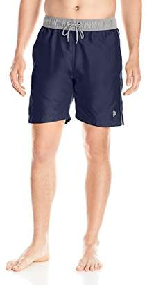 U.S. Polo Assn. Men's Solid Swim Short with Contrast Waistband
