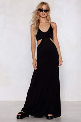 Nasty Gal Cry Your Heart Cut-Out Maxi Dress