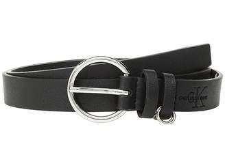 Calvin Klein 25 mm Flat Strap w/ Multi Rings Belt