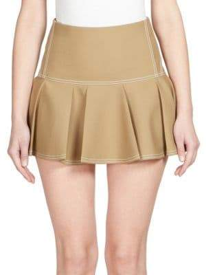 Chloé Silk Pleated Mini Skirt