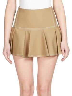 Chloé Silk Pleated Mini Skirt