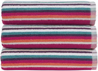 Christy Henley Stripe Towel - Berry - Bath Towel