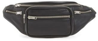 Alexander Wang Washed Leather Fanny Pack - Black $550 thestylecure.com