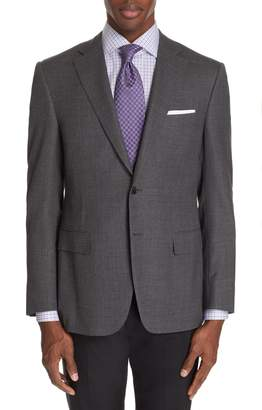 Canali Sienna Classic Fit Solid Wool Sport Coat