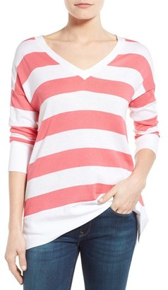 Women's Tommy Bahama 'Pickford' Stripe V-Neck Pullover $110 thestylecure.com