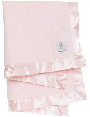 Little Giraffe Pink Quilted Blanket