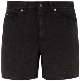 Gucci Logo Patch Denim Shorts - Mens - Black