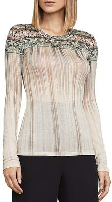 BCBGMAXAZRIA Asher Printed Jersey Top