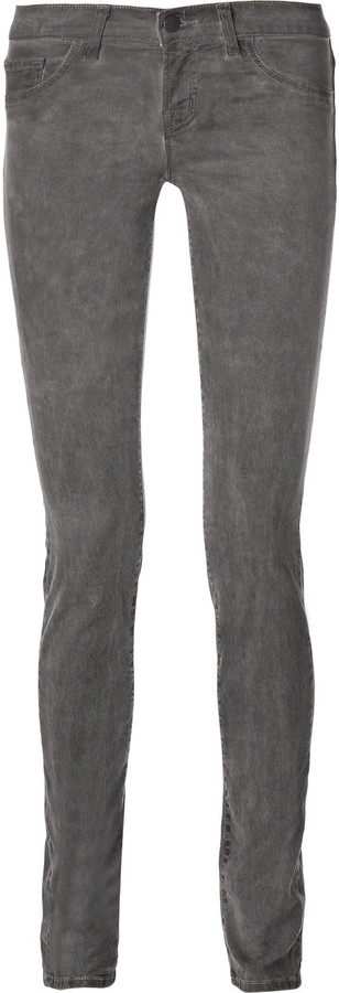 J Brand Mid-rise pebble-wash skinny jeans