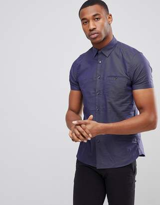 Ted Baker Short Sleeve Slim Shirt In Print