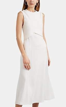Victoria Beckham Women's Draped Flared Midi-Dress - White