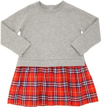 Burberry Cotton Sweatshirt & Plaid Dress