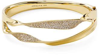 Ippolita 18k Gold & Diamond Stardust Double-Ribbon Bangle