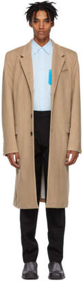 Helmut Lang Tan Three-Button Coat