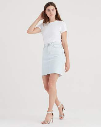 7 For All Mankind Pencil Skirt with Destroy in Cloud Bleach Out
