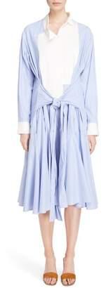 Loewe Asymmetrical Poplin Shirtdress