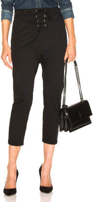 Nili Lotan Lace Up Avery Pant in Jet Black | FWRD
