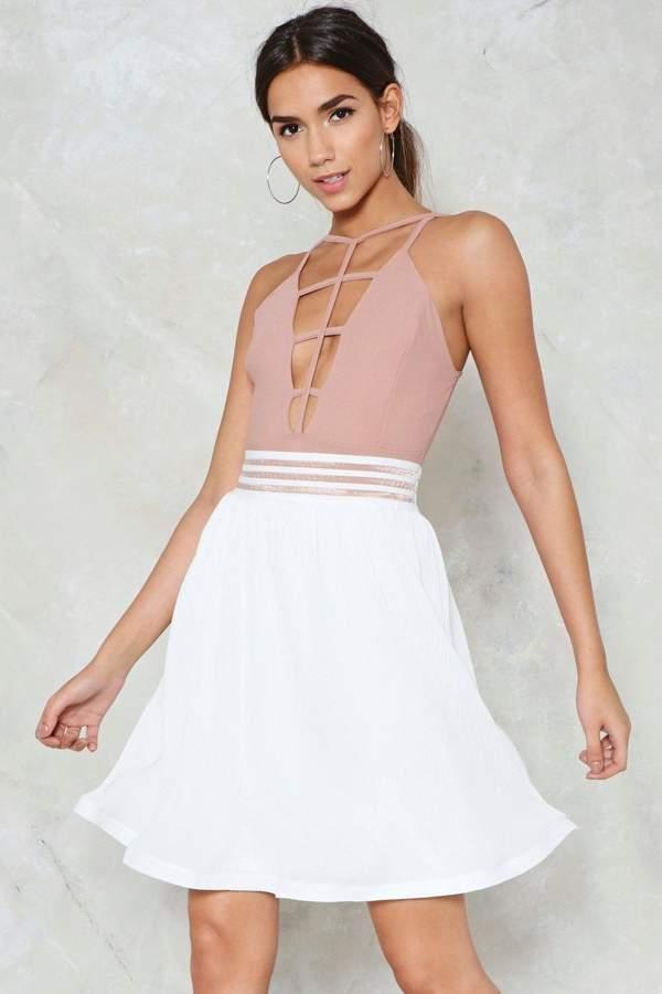 nastygal Swing State High-Waisted Skirt