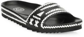 Ash Ulla Whipstitched Leather Slides $185 thestylecure.com