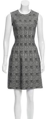 Alaia Spotted Wool-Blend Dress w/ Tags