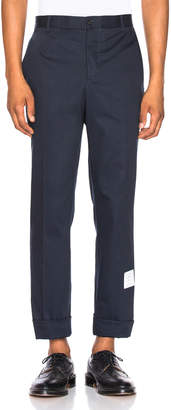 Thom Browne Unconstructed Chino in Navy | FWRD