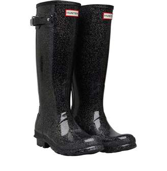 Hunter Womens Starcloud Tall Wellington Boots Black Multi