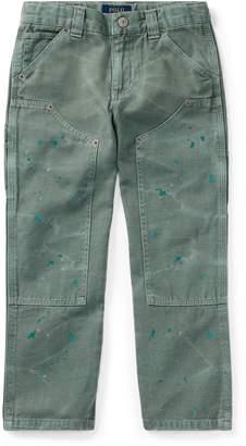 Ralph Lauren Distressed Cotton Twill Pant