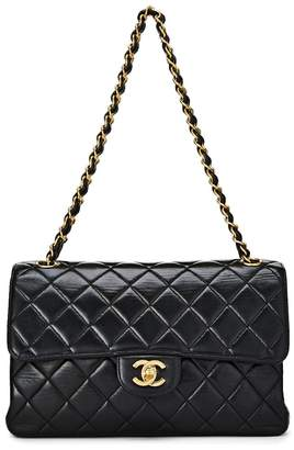 Chanel Black Quilted Lambskin Double Sided Flap Bag Small