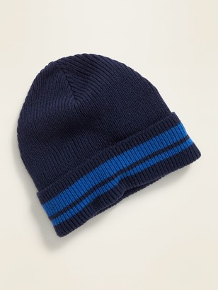 Old Navy Striped Rolled-Cuff Beanie for Men
