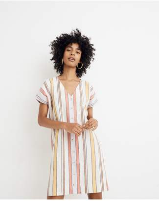 Madewell Button-Front Easy Dress in Towel Stripe b4ad72b20