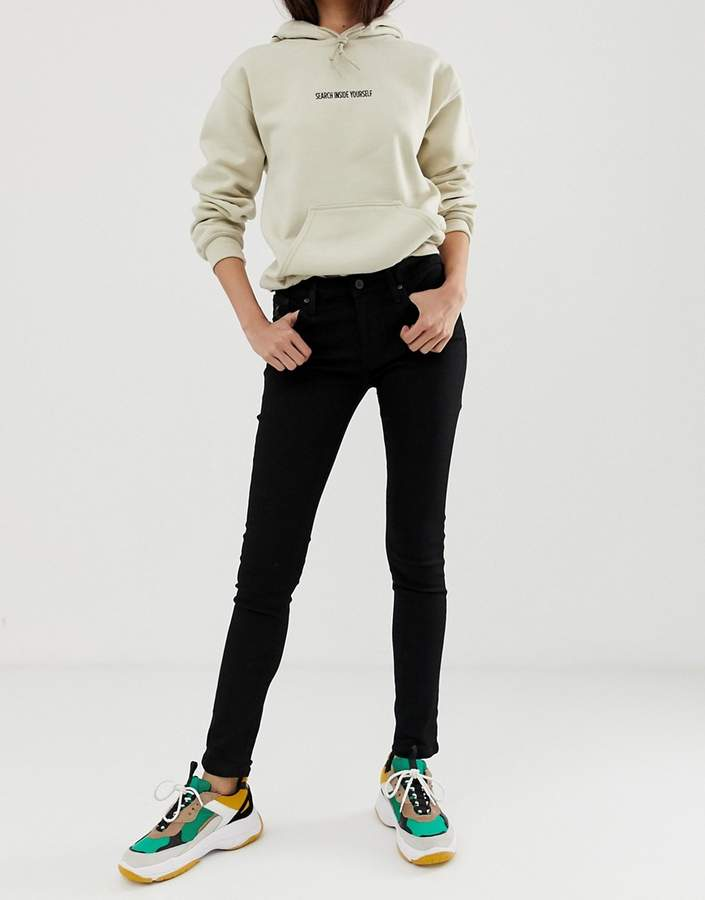 Mid Rise Super Skinny Jeans With Pocket Detail