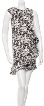 Thomas Wylde Printed Asymmetrical Dress w/ Tags