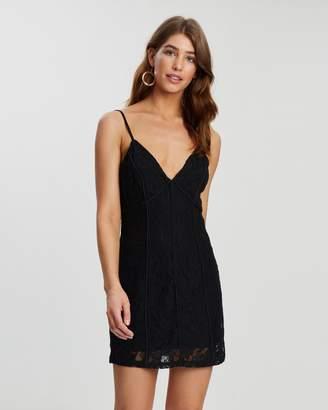 Missguided Lace Strappy Bodycon Mini Dress