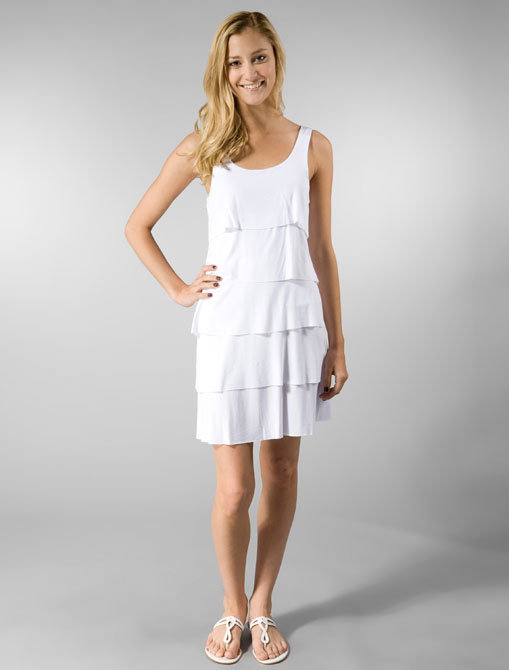 Bailey 44 Ripple Effect Dress in White