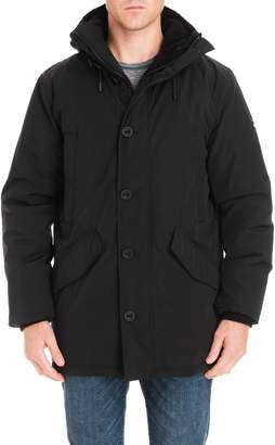 Michael Kors Lafayette Water Resistant Coat with Faux Shearling Lining
