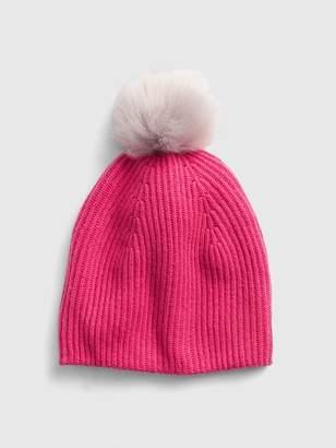 Gap Cozy Faux-Fur Pom-Pom Beanie