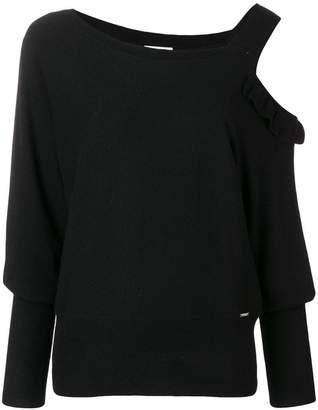 Liu Jo asymmetric fitted sweater