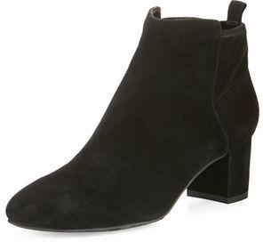 Delman Betsy Suede Block-Heel Bootie $498 thestylecure.com