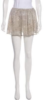 Anine Bing Printed Mini Skirt