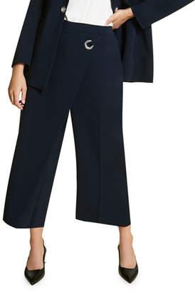 Marina Rinaldi Plus Size Recinto High-Rise Culottes w/ Drape Front Detail