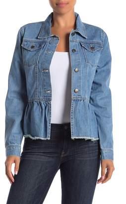 Velvet Heart Pippa Peplum Denim Jacket
