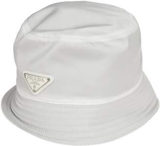 Prada Logo Plaque Rain Hat